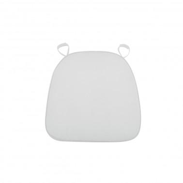 Cuscino stoffa bianco alto spessore per sedia chiavarina
