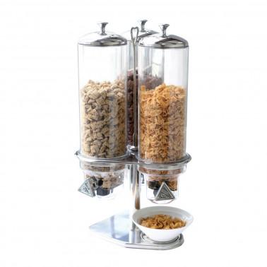 Distributore cereali tre contenitori