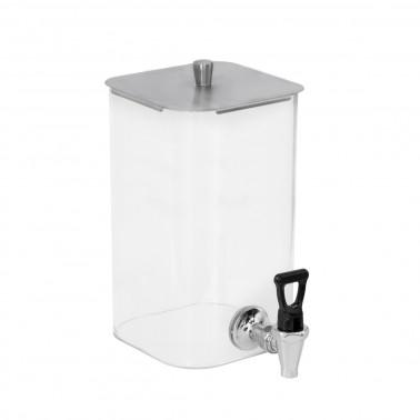 Distributore succhi in vetro refrigerato con coperchio inox