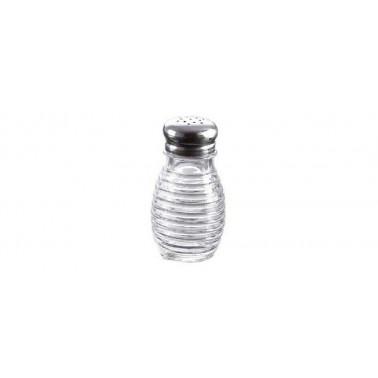 Spargisale/pepe vetro con capsula inox