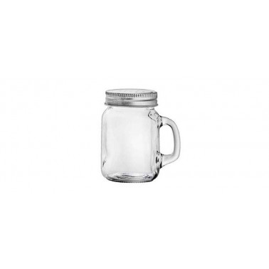 Spargisale/pepe vetro con capsula inox e manico