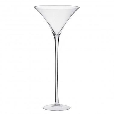 Vaso coppa martini vetro soffiato a bocca