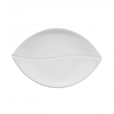 Vassoio porcellana foglia ovale buffet Gural