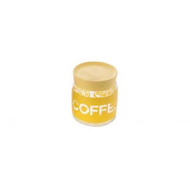 Barattolo caffè con tappo giallo Giara Soft