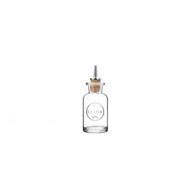 Bottiglia elixir vetro n. 2 con tappo versatore Mixology
