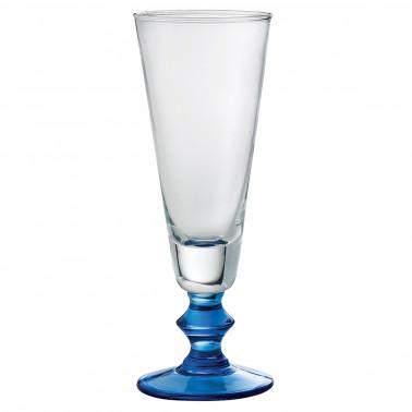 Coppa gelato riviera trasparente con gambo blu Vetro Soffiato