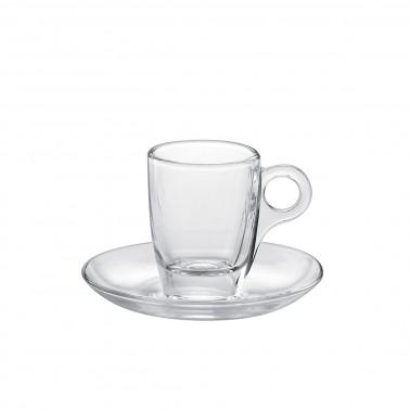 Tazza caffè con piatto CherieTemperato