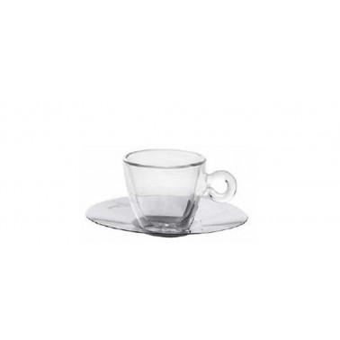 Tazza caffè con piatto inox Duos Termica