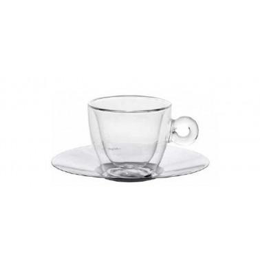Tazza cappuccino con piatto inox Duos Termica
