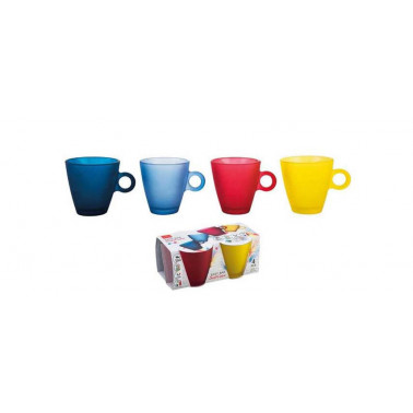 Tazza espresso  easy bar soft color colori assortiti Vetro Colorato