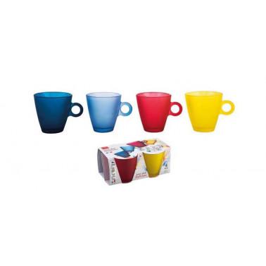 Tazza the easy bar soft color colori assortiti Vetro Decorato