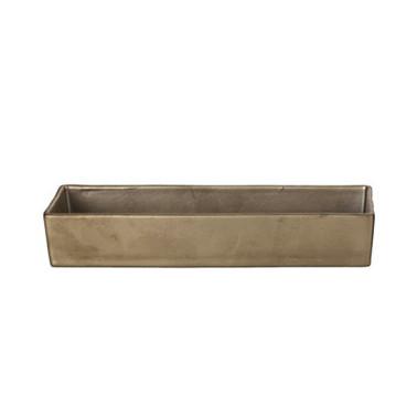 Coppetta rettangolare gold matt Etna porcellana Morini