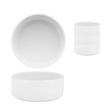 Coppetta Scandia impilabile porcellana bianca Morini
