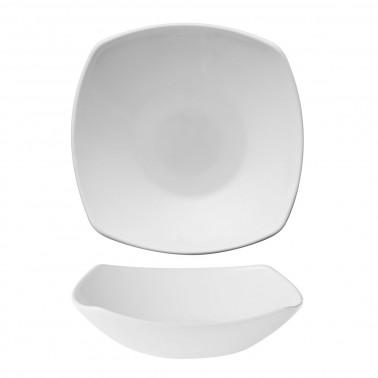 Piatto fondo Eclissi vetro bianco Bormioli