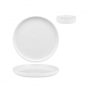 Piatto frutta Scandia impilabile porcellana bianca Morini