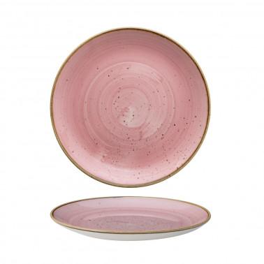Piatto frutta Stonecast rosa puntinato Churchill
