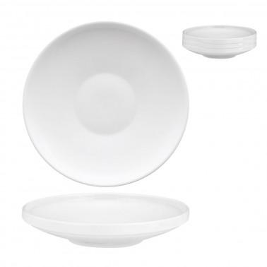 Piatto pasta Scandia impilabile porcellana bianca Morini