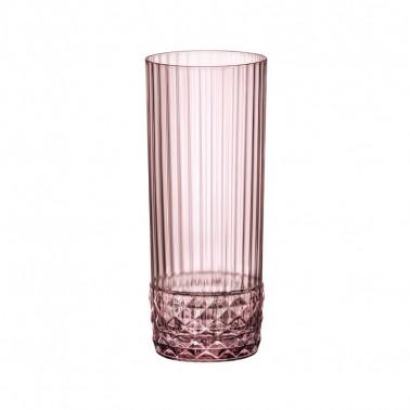 Bicchiere Long Drink America'20s LIliac Rose