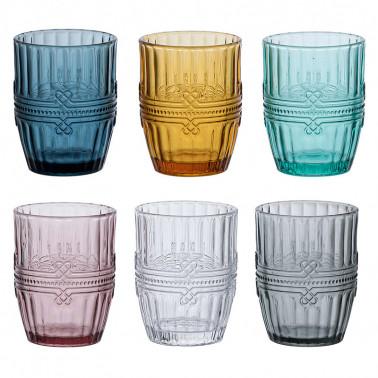 Conf. 6 pz assortiti Bicchiere Acqua Ionico Tognana