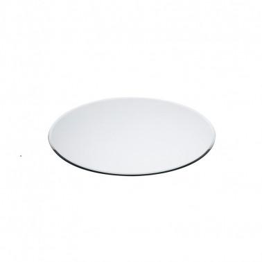 Espositore buffet a specchio vetro tondo