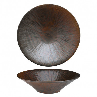 Piatto fondo copper Rust Bronze Tognana