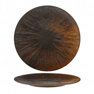 Piatto piano copper Rust Bronze Tognana