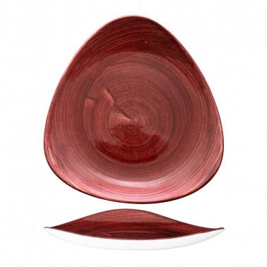 Piatto piano triangolare Stonecast Patina Rosso Ruggine