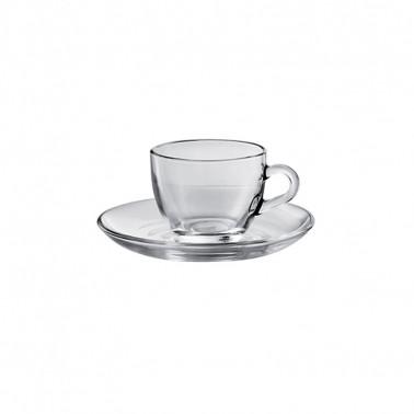 Tazza caffè Basic V-Block Technology Pasabahce con piattino
