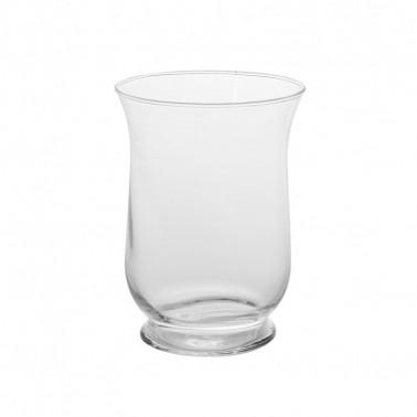 Vaso portacandele in vetro soffiato a bocca
