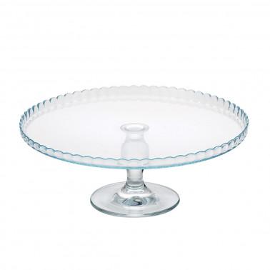 Alzata vetro con piatto