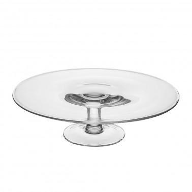 Alzata vetro con piatto senza bordo