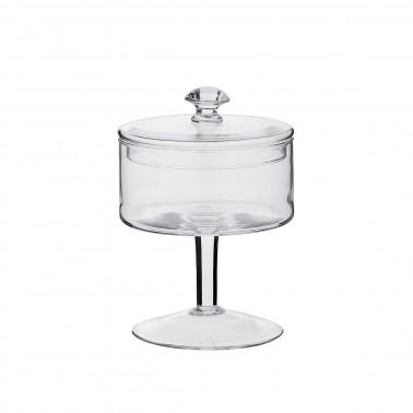 Barattolo vetro con coperchio h 25 cm