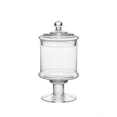 Barattolo vetro con coperchio h 28 cm