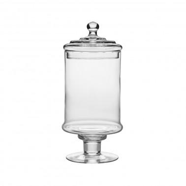 Barattolo vetro con coperchio h 33 cm