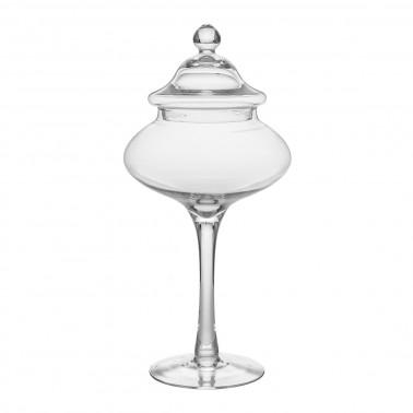 Barattolo vetro con coperchio h 43 cm