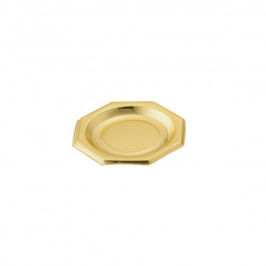 Coppetta plastica oro ottagonale finger food monodose polistirolo