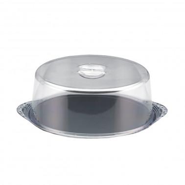 Copripaste tondo acciaio inox con campana plexiglass trasparente