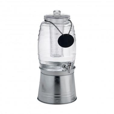 Distributore bevande con rubinetto e portaghiaccio/infusore senza supporto