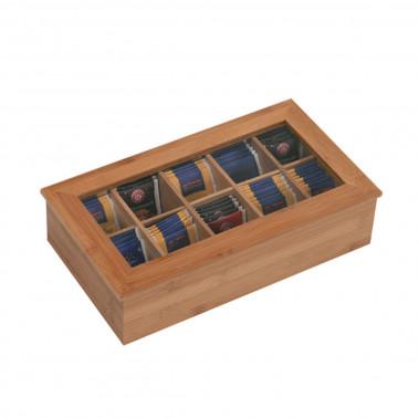Portabustine the bamboo con 10 scomparti con coperchio