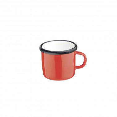 Tazza caffè rosso filo nero cl 8 Acciaio Smaltato Vintage