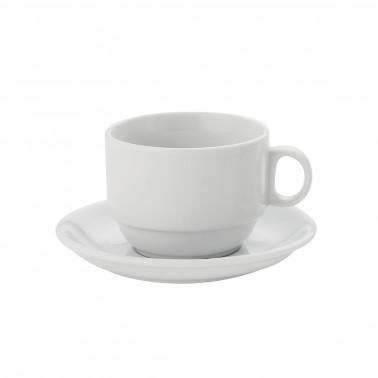 Tazza colazione cl 25 Londra Impilabile Bianco