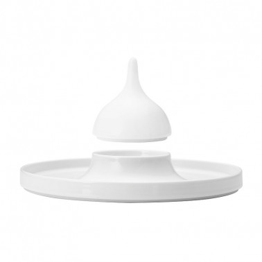 Coperchio per piatto degustazione Saturno Bianco