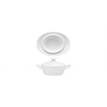 Mini piatto pasta ovale con cloche