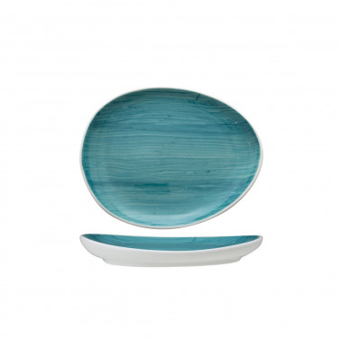 Piattino ovale B-Rush azzurro