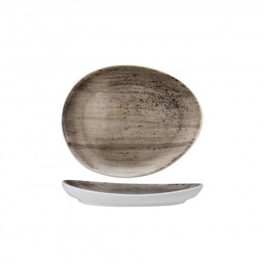 Piattino ovale B-Rush grigio