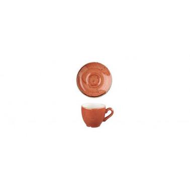 Piattino per tazza caffè Stonecast arancio mattone puntinato