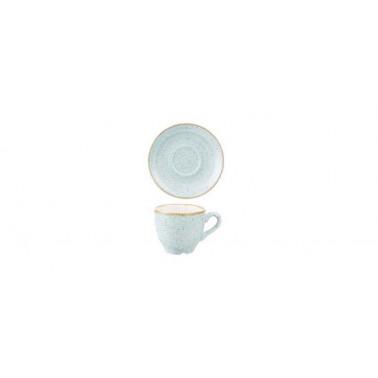 Piattino per tazza caffè Stonecast azzurro puntinato