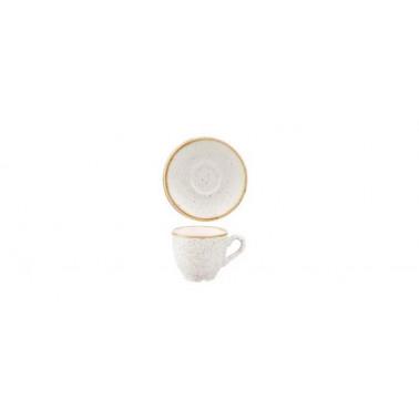 Piattino per tazza caffè Stonecast bianco puntinato
