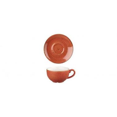 Piattino per tazza the Stonecast arancio mattone puntinato
