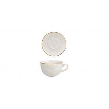 Piattino per tazza the Stonecast bianco puntinato